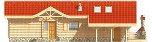 Projekt domu Aniela (z wiatą) - elewacja prawa