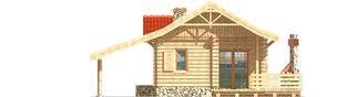 Projekt domu Aniela (z wiatą) - elewacja tylna