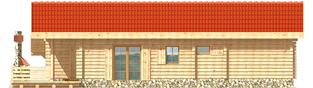 Projekt domu Aniela (z wiatą) - elewacja lewa
