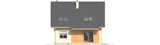 Projekt domu Adriana III (wersja A) - elewacja tylna
