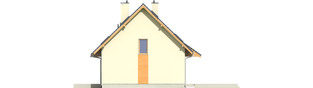 Projekt domu Adriana III (wersja A) - elewacja prawa
