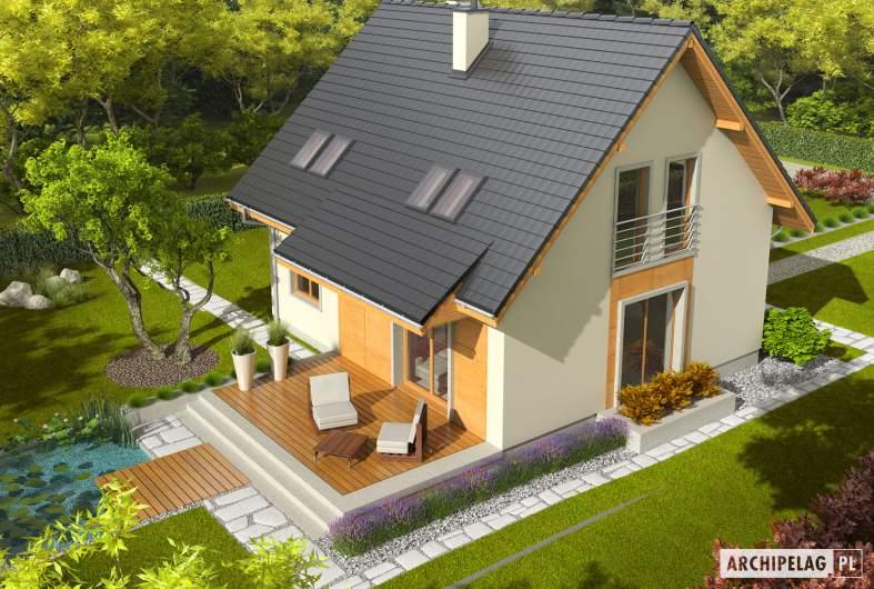 Projekt domu Adriana III (wersja A) - widok z góry