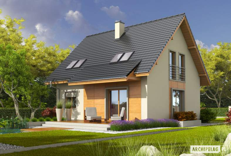 Projekt domu Adriana III (wersja A) - wizualizacja ogrodowa