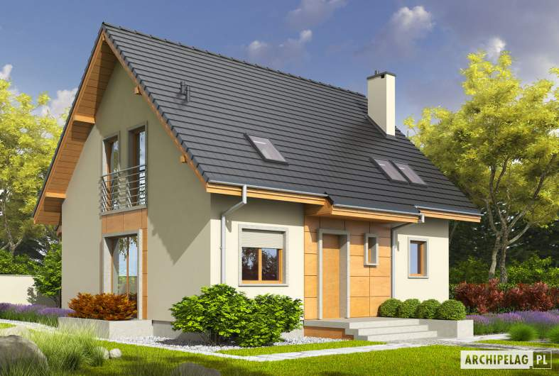 Projekt domu Adriana III (wersja A) - wizualizacja frontowa
