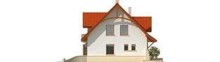 Projekt domu Krystyna - elewacja lewa