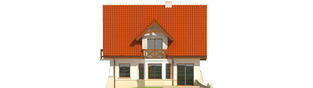 Projekt domu Krystyna - elewacja tylna