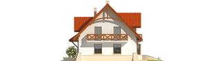 Projekt domu Krystyna - elewacja prawa