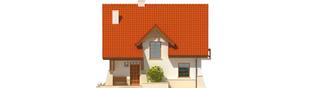 Projekt domu Krystyna - elewacja frontowa