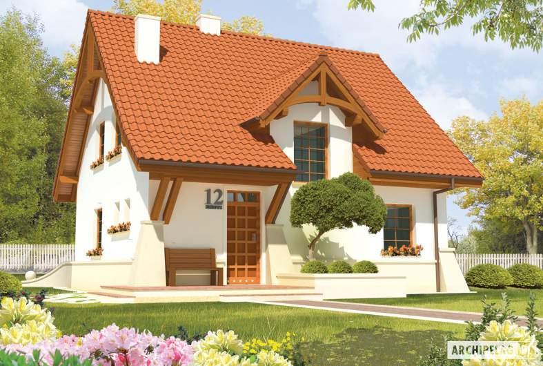 Projekt domu jednorodzinnego Krystyna - wizualizacja frontowa
