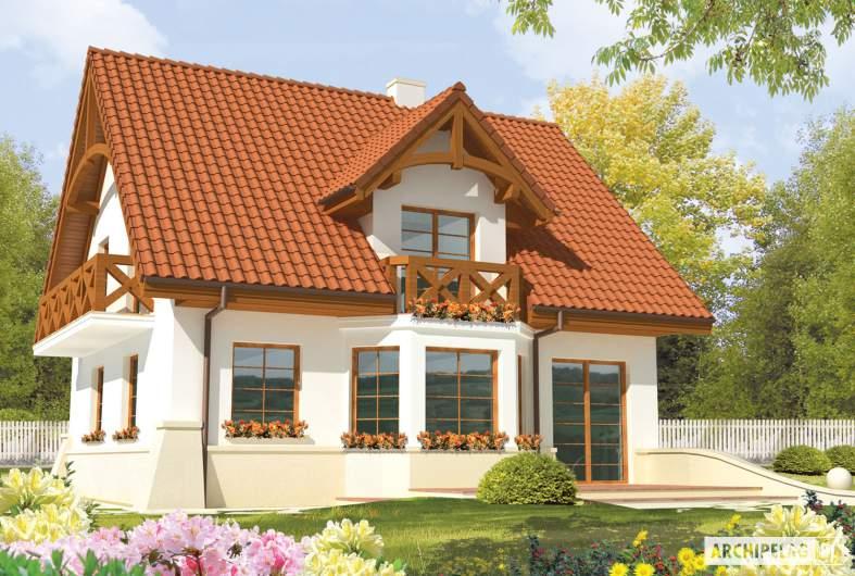 Projekt domu jednorodzinnego Krystyna - wizualizacja ogrodowa