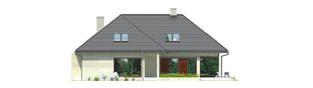 Projekt domu Teo G2 - elewacja tylna