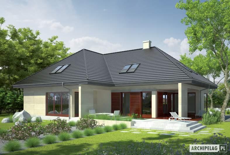 Projekt domu Teo G2 - wizualizacja ogrodowa