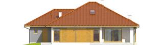 Projekt domu Flori III G1 - elewacja tylna