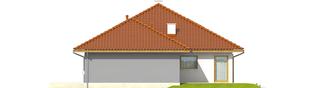 Projekt domu Flori III G1 - elewacja prawa