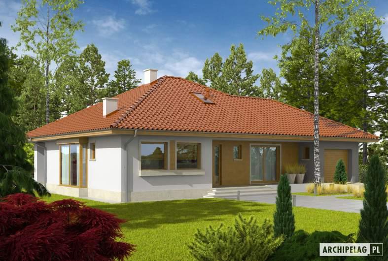 Projekt domu Flori III G1 - wizualizacja frontowa