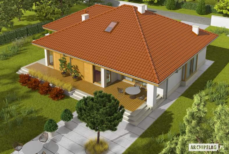 Projekt domu Flori III G1 - widok z góry