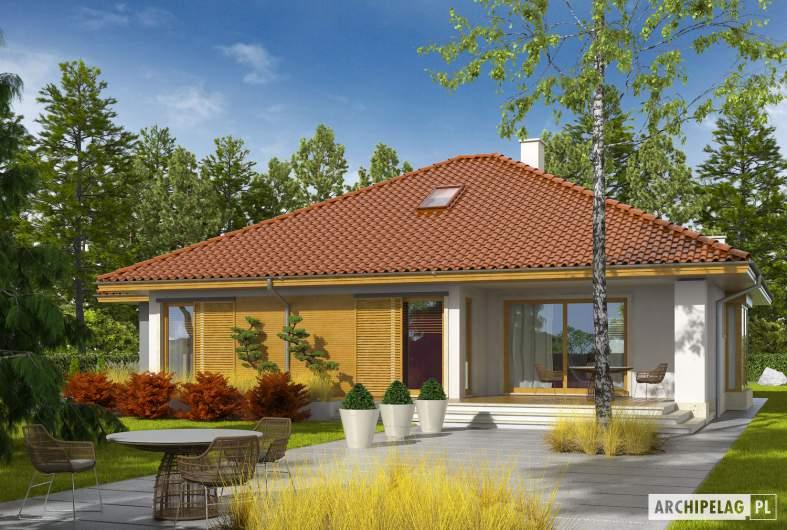 Projekt domu Flori III G1 - wizualizacja ogrodowa