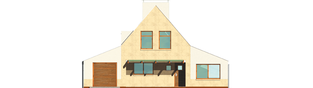 Projekt domu Larysa G1 - elewacja frontowa