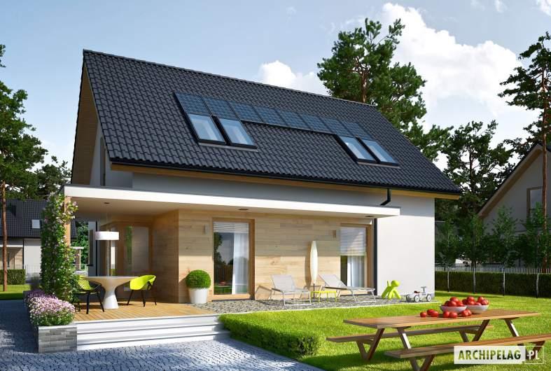 Projekt domu Lila ECONOMIC - wizualizacja ogrodowa
