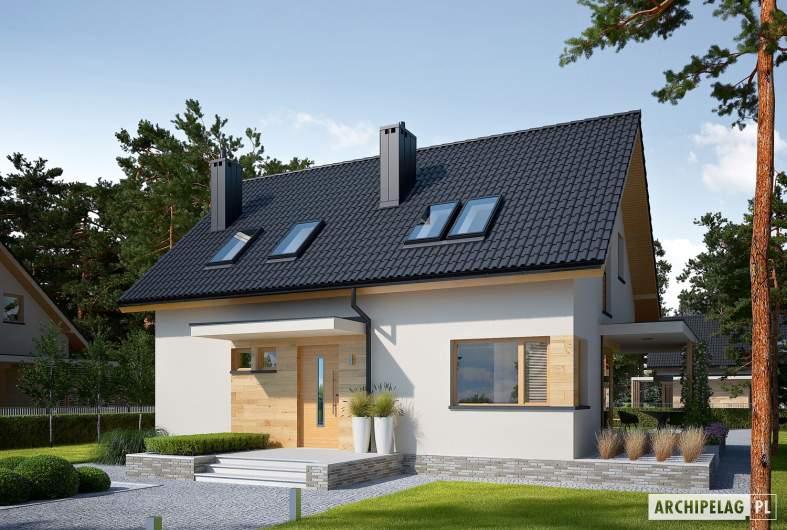 Projekt domu Lila ECONOMIC - wizualizacja frontowa