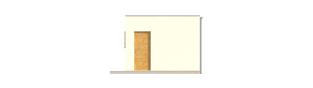 Projekt domu Garaż G23 - elewacja tylna