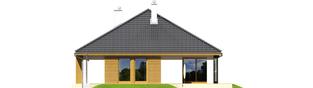 Projekt domu Glen - elewacja tylna