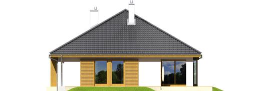 Glenas A++ - Projekty domów ARCHIPELAG - Glen - elewacja tylna