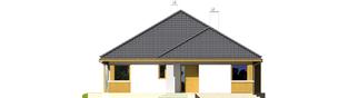 Projekt domu Glen - elewacja frontowa