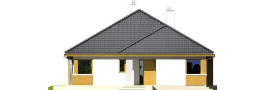 Glenas A++ - Projekty domów ARCHIPELAG - Glen - elewacja frontowa