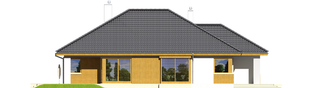 Projekt domu Glen - elewacja lewa