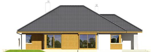 Glenas A++ - Projekty domów ARCHIPELAG - Glen - elewacja lewa