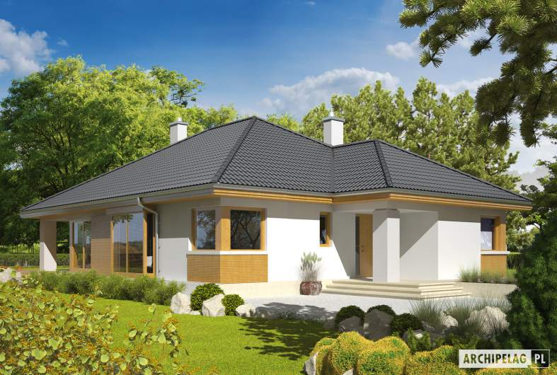 Projekt domu Glen - Projekty domów ARCHIPELAG - Glen - wizualizacja frontowa