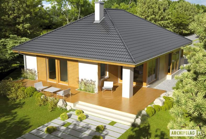 Projekt domu Glen - Projekty domów ARCHIPELAG - Glen - widok z góry