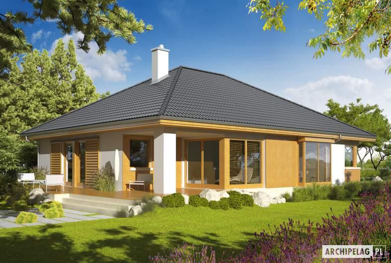 Projekt domu Glen - Projekty domów ARCHIPELAG - Glen - wizualizacja ogrodowa