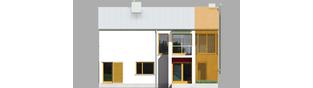 Projekt domu EX 1 ENERGO PLUS - elewacja frontowa