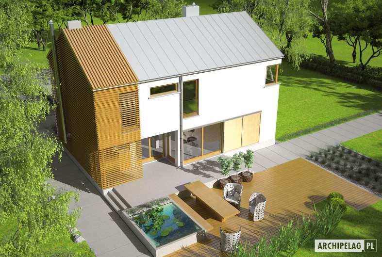 Projekt domu EX 1 - widok z góry