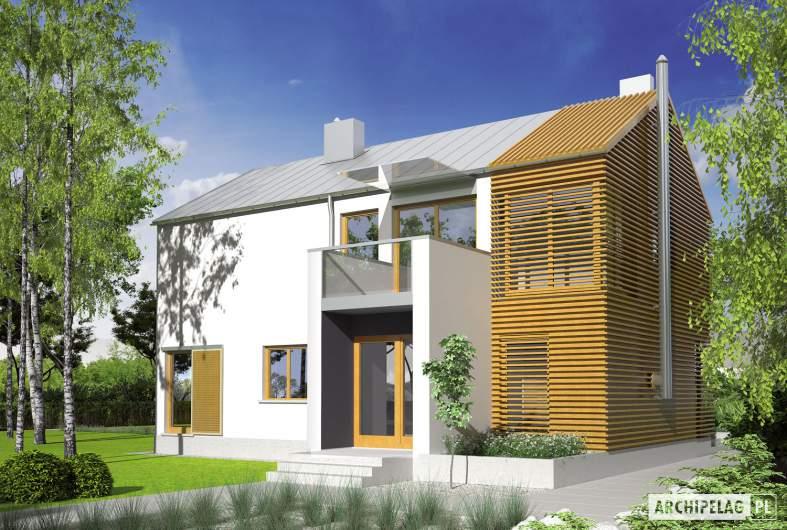Projekt domu EX 1 - wizualizacja frontowa