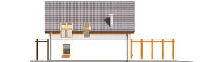 Projekt domu Lara (z wiatą) - elewacja lewa