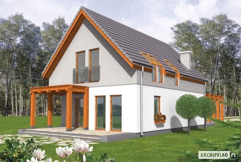 Projekt domu Agnes G1 - Archipelag - wizualizacja ogrodowa