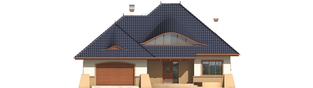 Projekt domu Klarysa G2 - elewacja frontowa