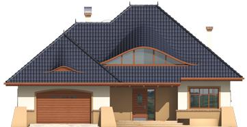 Klarice G2 - Projekt domu Klarysa G2 - elewacja frontowa