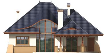 Klarice G2 - Projekt domu Klarysa G2 - elewacja tylna