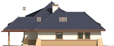 Klarice G2 - Projekt domu Klarysa G2 - elewacja lewa