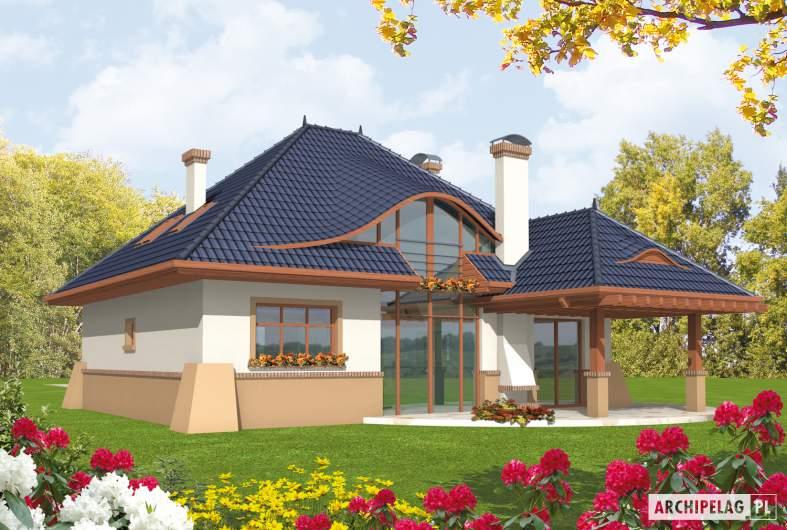 Projekt domu Klarysa G2 - wizualizacja ogrodowa