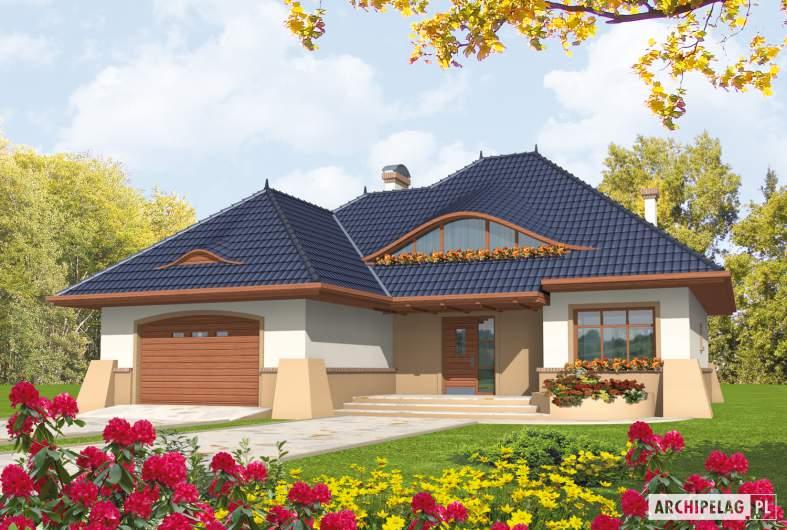 Projekt domu Klarysa G2 - wizualizacja frontowa