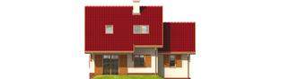 Projekt domu Raissa G1 - elewacja tylna