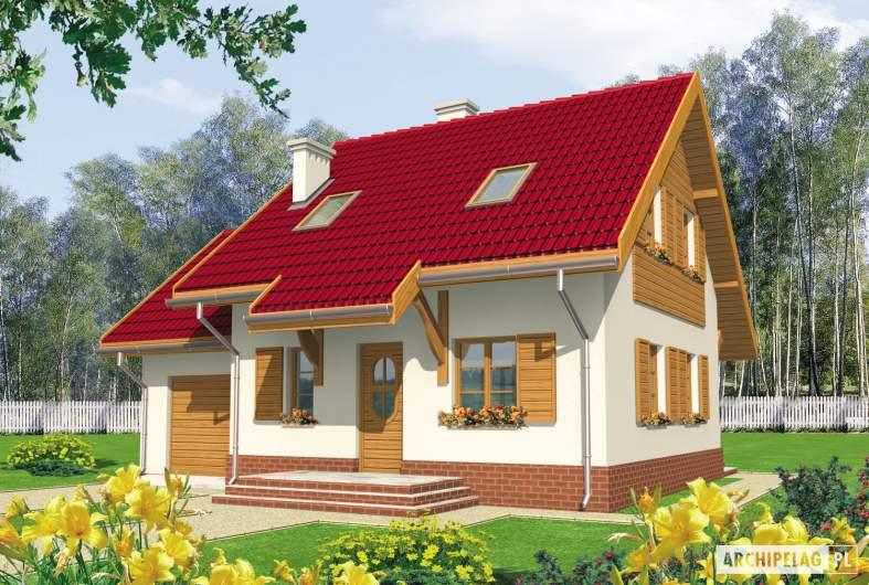 Projekt domu Raissa G1 - wizualizacja frontowa