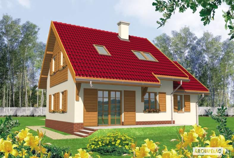 Projekt domu Raissa G1 - wizualizacja ogrodowa