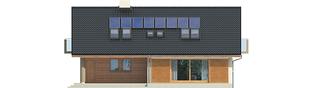 Projekt domu Malena G1 (wersja B) - elewacja tylna