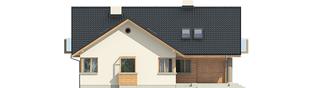 Projekt domu Malena G1 (wersja B) - elewacja frontowa